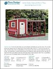Chicken Coop with Kennel / Combo Hen House and Run Plans, Design 50410LM