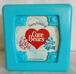 Vintage 1985 Young World of Care Bears Blue Baby Activity Block Toy