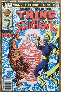 MARVEL TWO-IN-ONE THE THING AND STARHAWK (MARVEL,1980) #61 BRONZE AGE ~