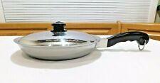 "RARE SALADMASTER 10"" GOURMET SKILLET PAN & LID MULTI PLY STAINLESS WATERLESS"