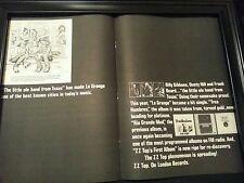 Zz Top Tres Hombres Rare Original Promo Poster Ad Framed!