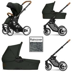 Mutsy Evo Urban Nomad 3in1 Pushchair & Carrycot &  car seat, Industrial Charcoal