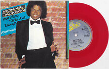 "Michael Jackson DON'T STOP 'TIL YOU GET ENOUGH Disque 45t 7"" RED Vinyl Single UK"