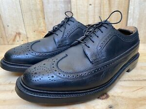 Vintage Florsheim Imperial Kenmoor 5 Nail #92604 Black Wing-Tip V-Cleat-Size 9 E