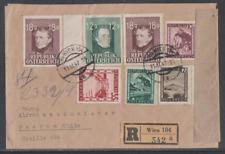 Österreich 1947 Reco Brief mit Zensurstempel nach Chile