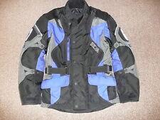 MENS RICHA M MEDIUM BLUE BLACK TEXTILE WATERPROOF MOTORCYCLE JACKET