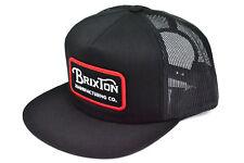 BRIXTON GRADE TRUCKER MESH SNAPBACK CAP BLACK OSFM AUTHENTIC - IMPORTED FROM USA