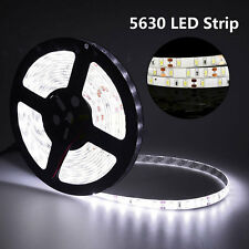 5M 300Leds SMD 5630 Cool White Flexible LED Strip Light DC 12V IP65 Waterproof