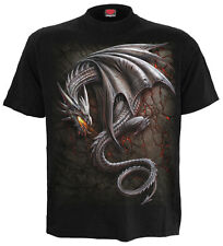 ESPIRAL DIRECTO Obsidiana Camiseta, Motero/ Gótico/ Rock / Metal / DRAGON FIRE /