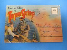 Vintage Souvenir Postcard Folder Tarpon Springs, Florida S428