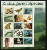 Endangered Species Collectible Sheet Fifteen 32 Cent Stamps Scott 3105 By USPS