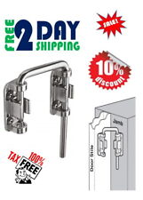 Secondary Door Lock Sliding Loop Home Security Diecast Chrome Patio Steel Bar