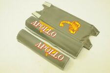 "OLD SCHOOL OR SMALL BMX 16"" 18"" APOLLO SCORPION PAD SET GREY GENUINE MADE 80's"
