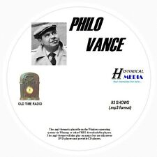 PHILO VANCE - 93 Shows Old Time Radio In MP3 Format OTR On 1 CD