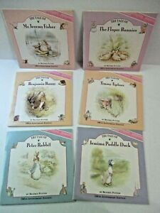 Beatrix Potter Complete Set of 6 BOOKS 100th Anniversary Collectible w/ Stickers