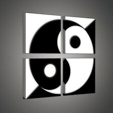 Set (4 pezzi) tela poster parete simbolo YING YANG TAI JI Cina 3fx2028s20