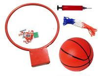 Basketball Ring Metal Hoop 29cm, Net & Ball Set & Wall Fixings Garden Game 326