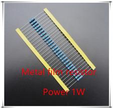 1W metal film power resistance accuracy 1% 0.1Ω 1Ω 10Ω 100Ω 1K 10K 100K 1M