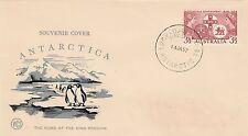 Kappysstamps Id8527 Souvenir Cover Antarctica Jan 14 1957 Unadressed