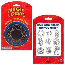 "Magic Wire Loops Set Rings 4"" Puzzle Toy Changes Shape Mandala Toysmith"