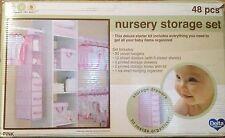Delta 48 Piece Nursery Storage Set Pink