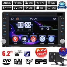 GPS Navigation HD Double 2 DIN Car Stereo DVD Player Bluetooth Radio MP3 Camera