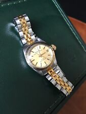 Vintage Ladies Rolex Tudor Princess Oysterdate Bi-metal Automatic Watch & Box
