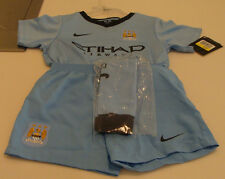 Manchester City 2014-15 XL Age 7/8 Little Boys Soccer Kits Jersey Shorts Socks