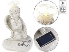 Schutzengel-Figur mit Solar-LED-Licht