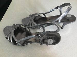 New Look dark silver wide fit sandals. Size 6. New