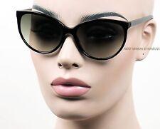 Large Cat Eye Sunglasses Pinup Womens Vintage Style Smoke Lens Black K437