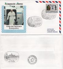 """VATICAN 1983 spécial ENVELOPPE """"le pape Jean-Paul II en Lourdes"""" avec MiNr. 787"""