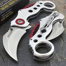 "7.75"" TAC FORCE KARAMBIT SPRING ASSISTED TACTICAL FOLDING POCKET KNIFE Open"