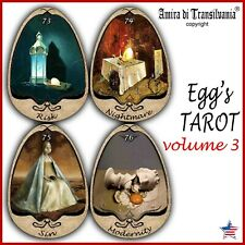 Eggs tarot card cards deck guide book wicca oracle collectible rare vintage egg