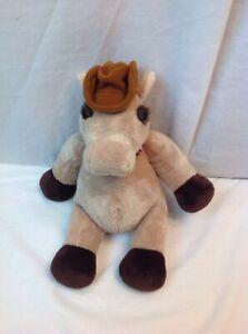 "2002 WISHPETS BIG JOEY plush horse donkey bandana 12"" cowboy hat"