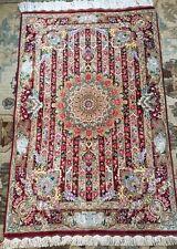 Persian silk carpet/rug qom/qum handmade 100% pure silk with sign/ Authentic-Qom
