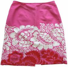 VTG MARIMEKKO for Bloomingdales Maija Isola Ananas Print Pink Pencil Skirt Sz 10