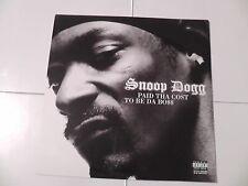 Snoop Dogg Very Rare Promo Poster Flat
