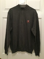 NWT Men's University of Virginia UVA Cavaliers Cutter & Buck Gray Sweater Medium