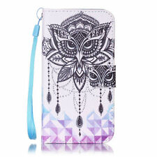 Patterned Mobile Phone Wallet Cases with Kickstand