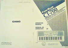 Owner's User's Operating Manual for Casio CT-700 Advanced Tone Bank Keyboard