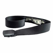 Plastic Buckle Travel Belt with Hidden Zip Compartment
