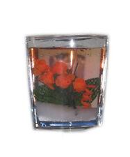 Bougie Gelee Decorative Rose Orange
