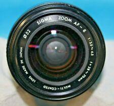 Sigma Auto Focus Zoom AF E 1:3:5 4:5 F=28-70mm/52mm Multi-Coated Minolta Lens