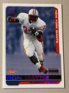 2000 Paramount #155 Ron Dayne Purple New York Giants Serial Number # 200/325