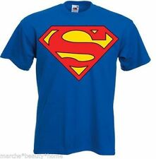 superman T-shirt made to order mens large blue tee