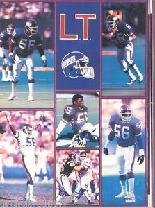 MONSTER POSTER: NFL FOOTBALL: LAWRENCE TAYLOR - NY GIANTS  #PW-SLMP-LT  RAP135 C