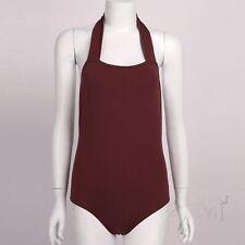 Women Girl Lingerie Dance Ballet Skate Bodysuit Catsuit Jumpsuit Leotard Top XL