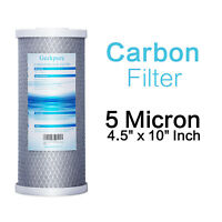 """Big Blue Carbon Block Replacement Water Filter 10"""" x 4.5"""" For Whole House System"""