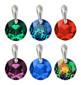 Sterling Silver Pendants made with 6430 14mm Classic Cut Swarovski® Crystals